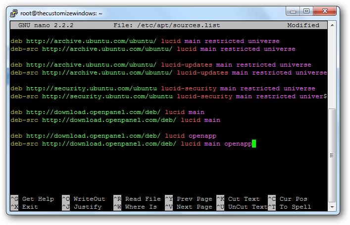 Installing Load Balancer OpenApp NAP on Rackspace Cloud Server