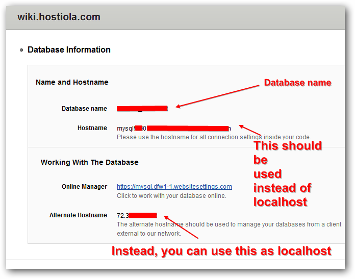 Rackspace Database Details