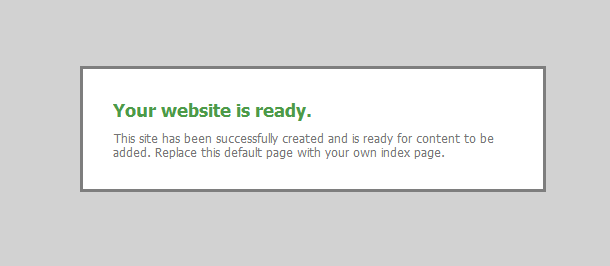 Rackspace Your website is ready