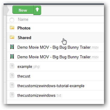 Shared Folder OwnCloud