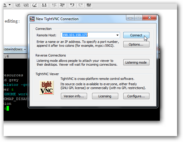 hack vnc password: