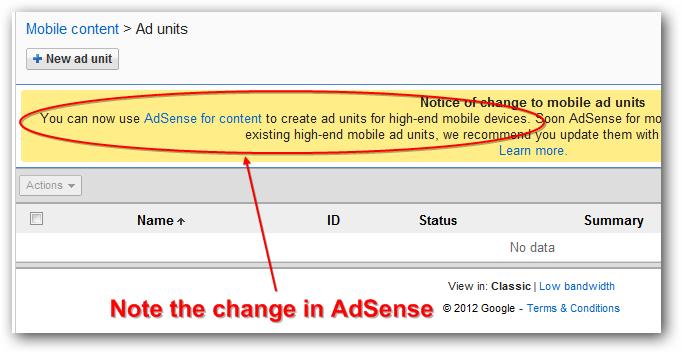Google AdSense Ads and Responsive Website Design