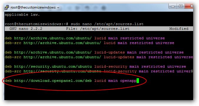 Installing OpenApp MySQL DBMS on Rackspace Cloud