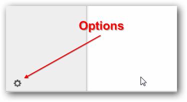 OwnCloud Options Menu