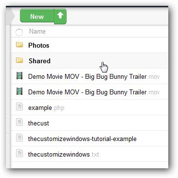 Shared Folder OwnCloud