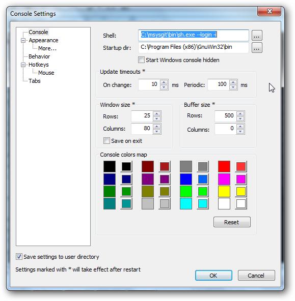 Translucent Console for Windows