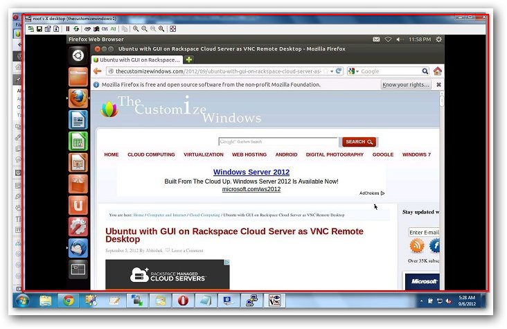 Virtual Network Computing or VNC