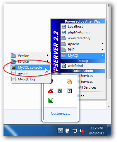 create a database from here by launching MySQL console