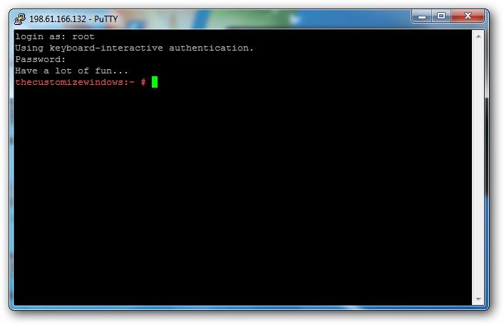 openSUSE Rackspace Cloud Server