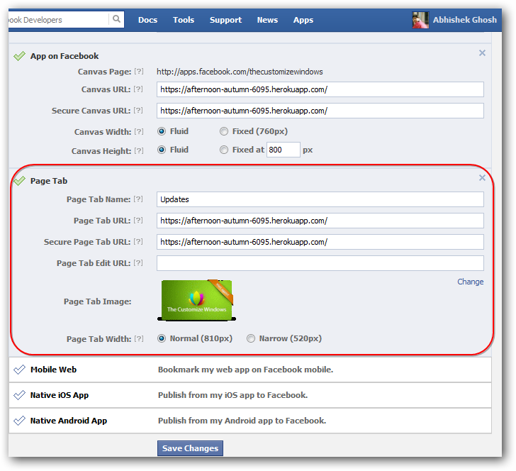 Creating Custom Facebook Tab For Your Facebook Fan Page