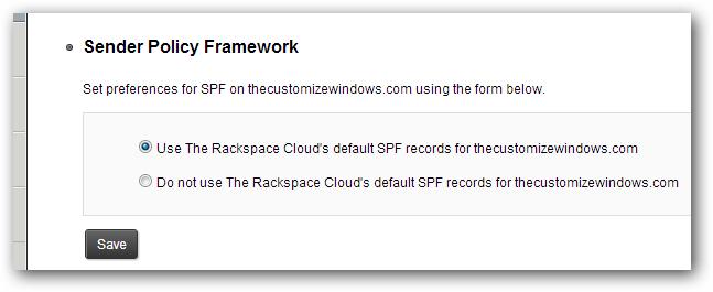 Sender Policy Framework-SPF record