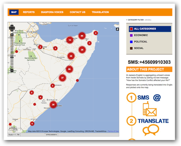 Ushahidi information Collection Visualization App on Rackspace Cloud