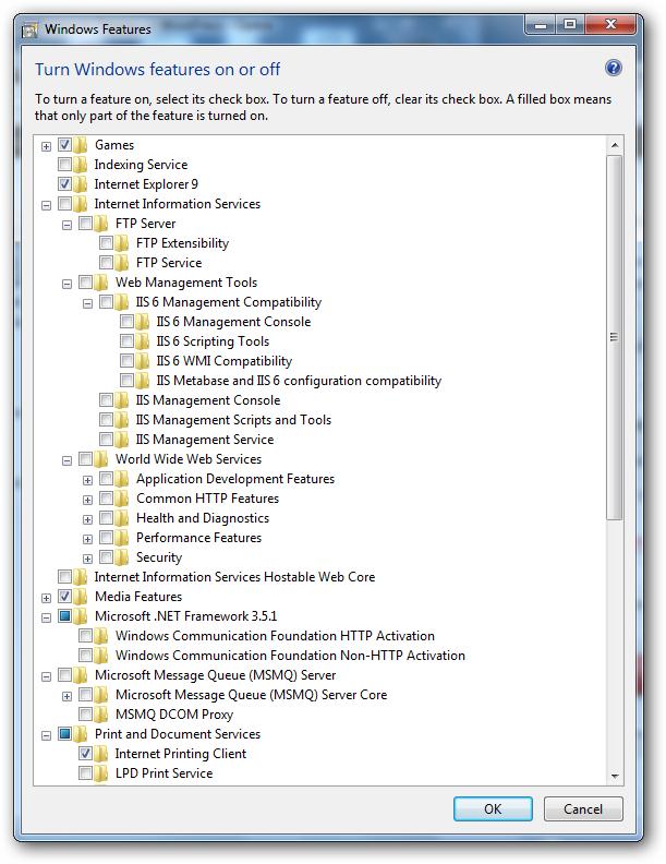 Windows 7 as Web Server
