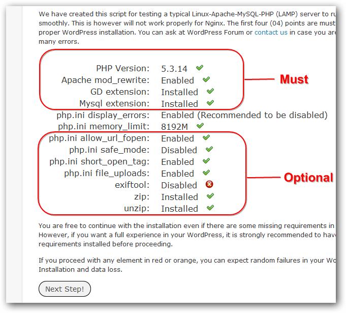 WordPress Compatibility Checking Script