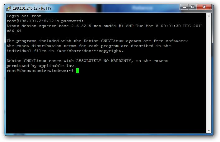 Adding Domain Name to Rackspace Cloud Server