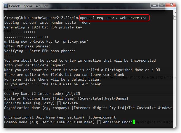 HTTPS in WAMP Server on localhost