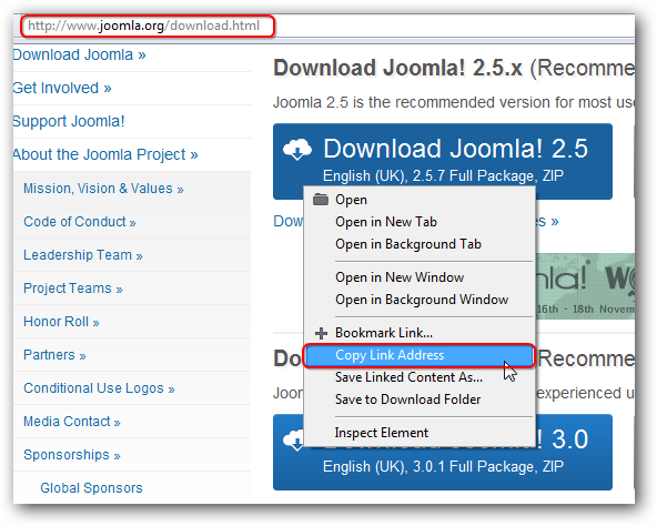 Installing Joomla on Rackspace Cloud Sites