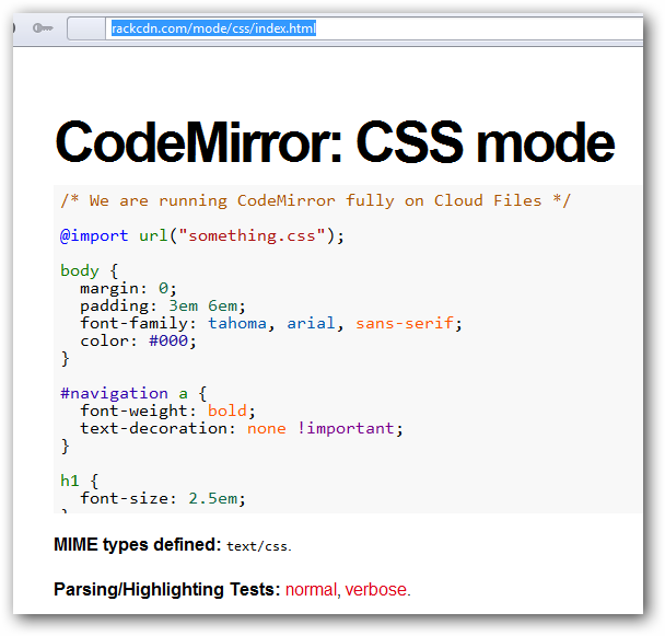 Installing Online Code Editing Tool CodeMirror on Rackspace Cloud Files
