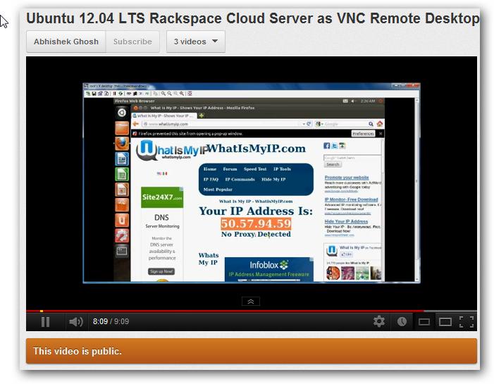 Ubuntu 12.04 LTS Rackspace Cloud Server as VNC Remote Desktop