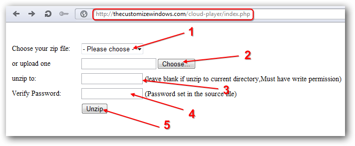 Upload and Uzip to FTP from Browser for Rackspace Cloud Sites