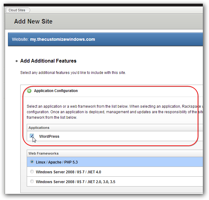 Automated Installation of WordPress on Rackspace Cloud Sites