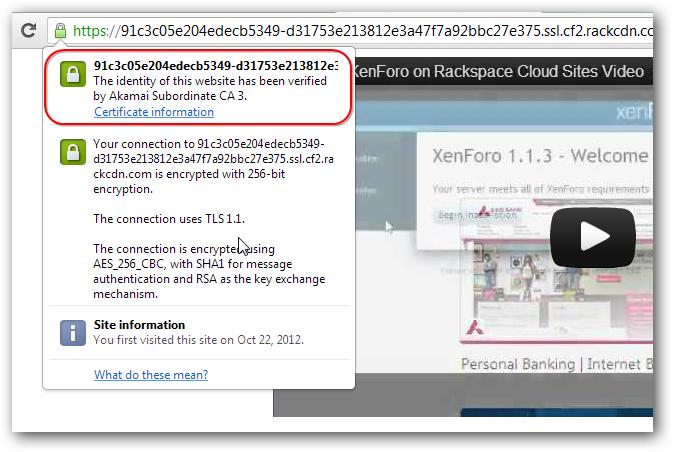 Embed YouTube Video on Rackspace Cloud