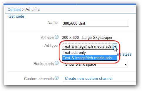 Google AdSense 300x600 Ad Unit