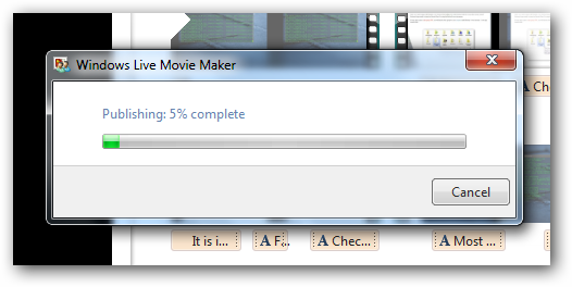 Movie Maker Video to YouTube