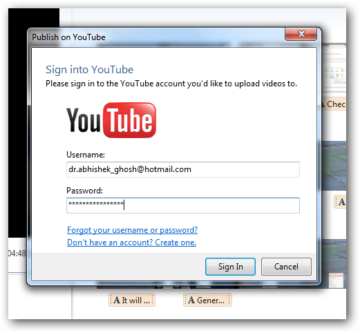 Windows Live to YouTube