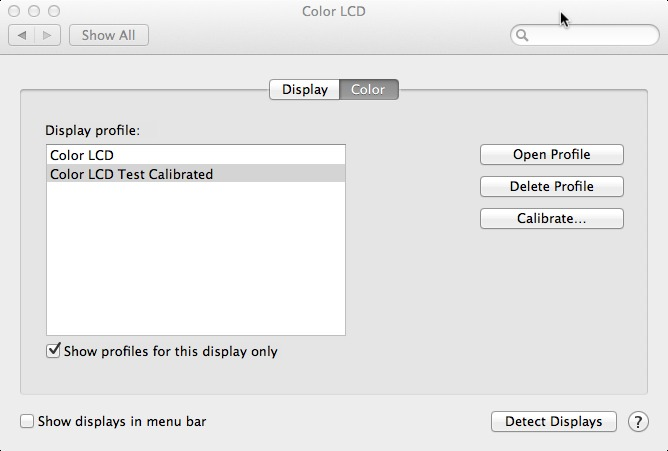 ICC Color Profiles for Mac Displays