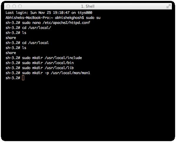Install WordPress on Mac OS X
