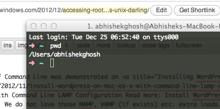 Accessing Root on Mac OS X 10.8.2