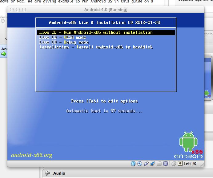 Android 4 on VirtualBox
