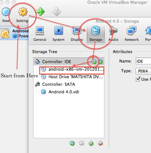 Android OS on PC or Mac settings