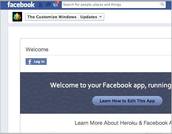 Default Heroku Facebook App