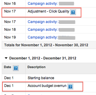 Google AdWords Adjustment