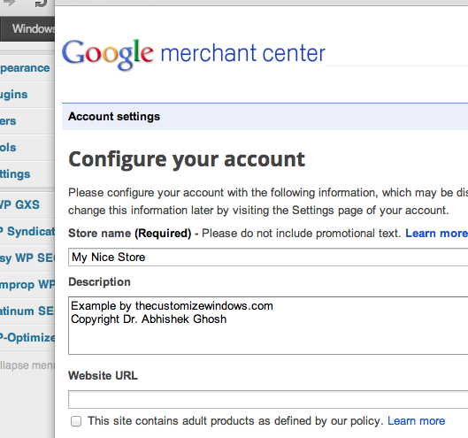 Google Merchant Center Store