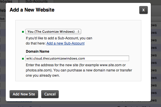 Third Level Domain in Rackspace Cloud Sites