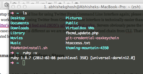 Using Twitter From Command Line Interface