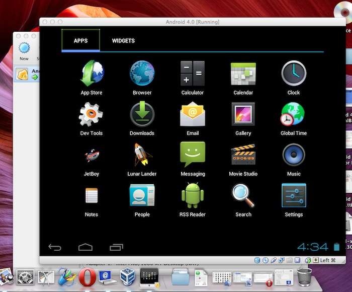 Android OS on Mac