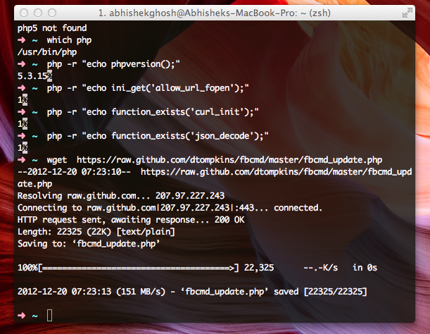 Facebook From CLI