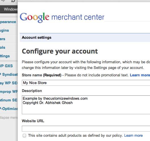 Google Merchant Center Store