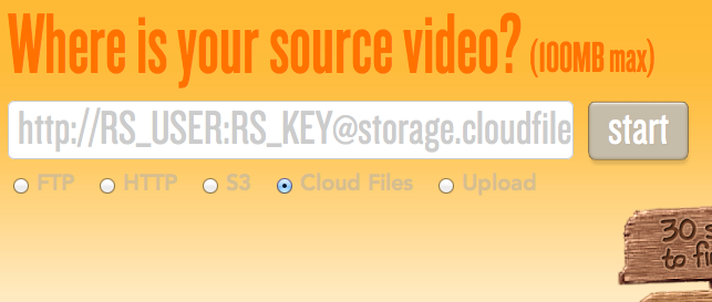Rackspace Cloud Files and Video Transcoding Platform by Encoding