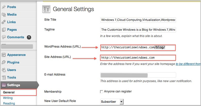 WordPress Subfolder Installation To Root for Pre-existing Installation