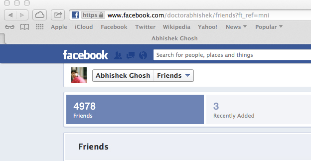 Facebook Friend Limit