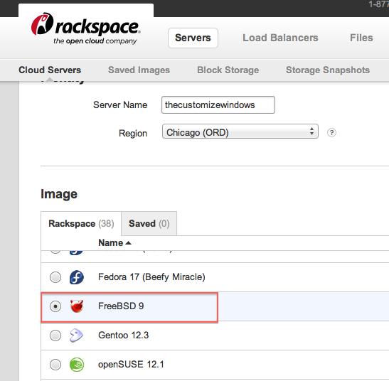 Installing WordPress on FreeBSD on Rackspace Cloud Server