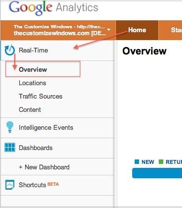 Real-time Monitoring of Google Analytics