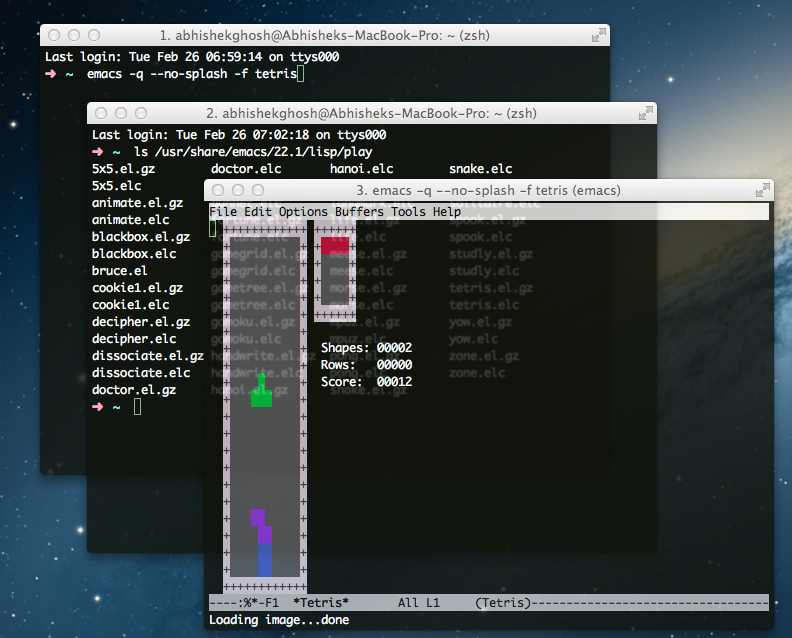 Play Games in Terminal in Mac
