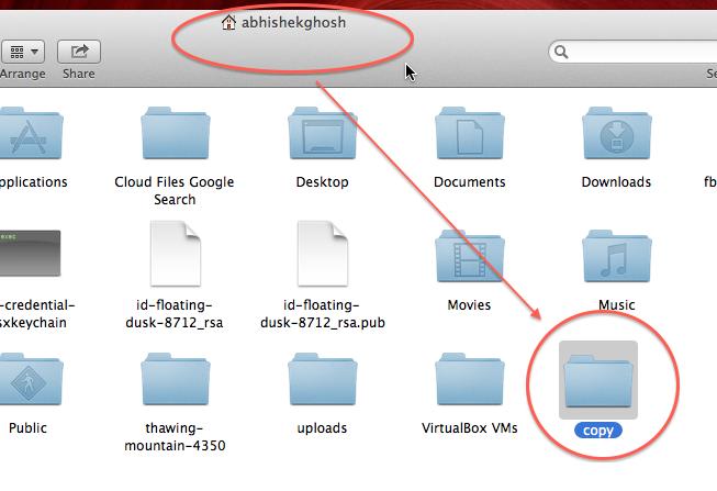 User folder in Mac