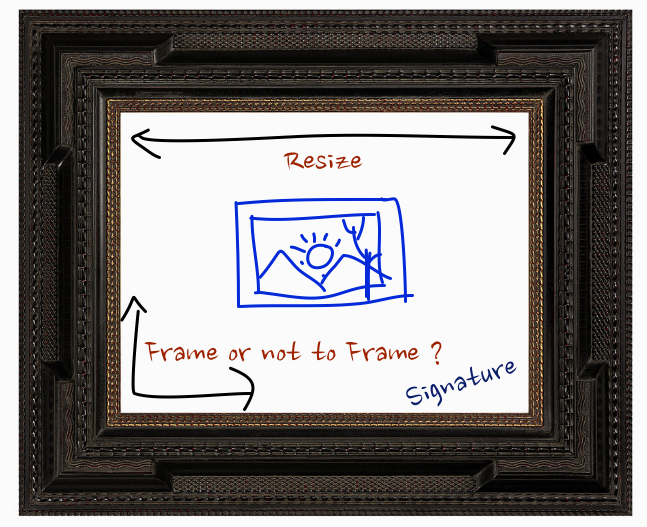 Framing, Resizing, Adding Signature in Your Digital Photograph